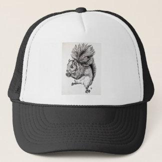 Eichhörnchen-Tinten-Illustration Truckerkappe