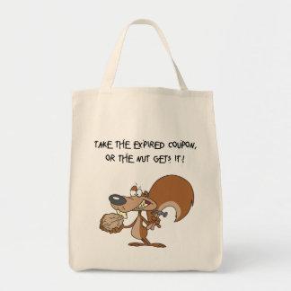 Eichhörnchen-u. Nuss-Lebensmittelgeschäft-Tasche Tragetasche
