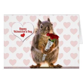Eichhörnchen-Valentinsgruß Karte