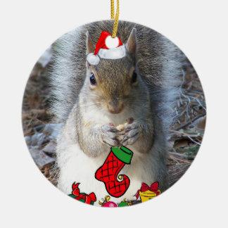 Eichhörnchen-Weihnachtsverzierung Keramik Ornament
