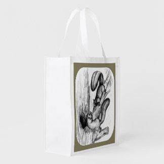 Eichhörnchen Wiederverwendbare Einkaufstasche