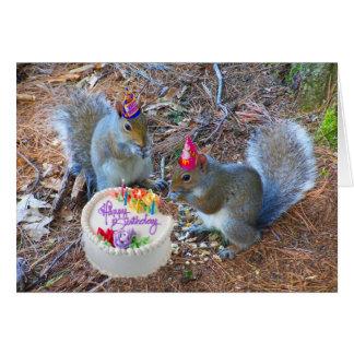 Eichhörnchengeburtstagskarte Karte