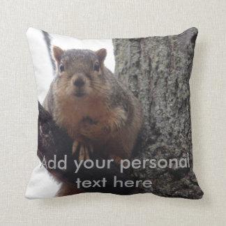 Eichhörnchenkissen mit persönlichem Text Kissen