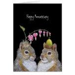 Eichhörnchenpaar-Jahrestagskarte Karten