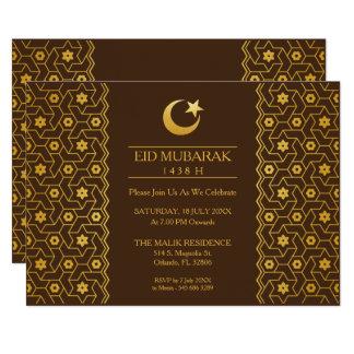 Eid Feier-Party Einladungs-islamisches Muster 12,7 X 17,8 Cm Einladungskarte