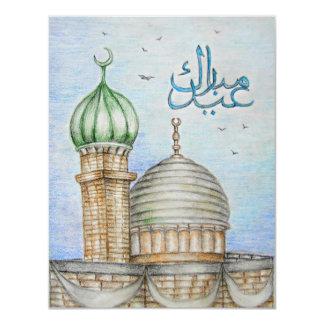 Eid Mubarak! 10,8 X 14 Cm Einladungskarte