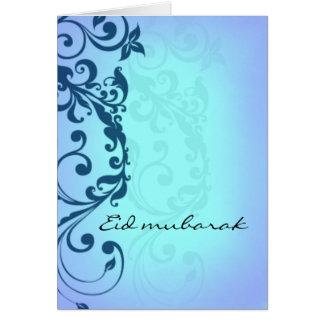 Eid Mubarak - blaue Grußkarte