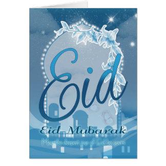Eid Mubarak, Eid Gruß-Karte, Eid Blau-Karte Grußkarte