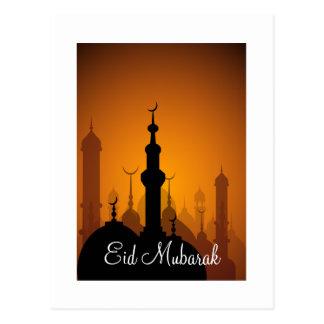 Eid Mubarak glückliches Eid Postkarte