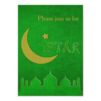 Eid Mubarak grünes Goldmoschee - Iftar Einladung