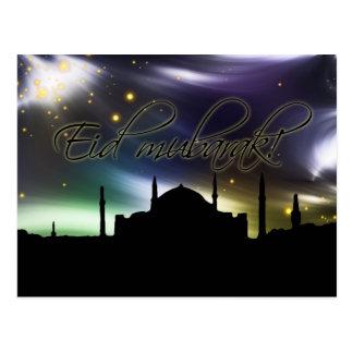 Eid Mubarak Grußkarte Postkarte
