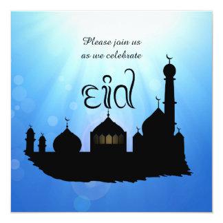 Eid Mubarak Moschee mit Sunrays - Party Einladung
