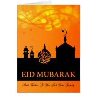Eid Mubarak Orangen-Mischungen mit Karte