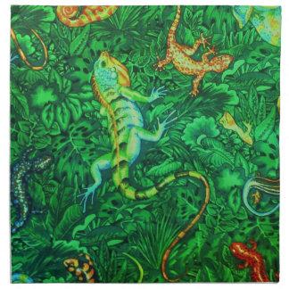 Eidechsen-Batik Serviette
