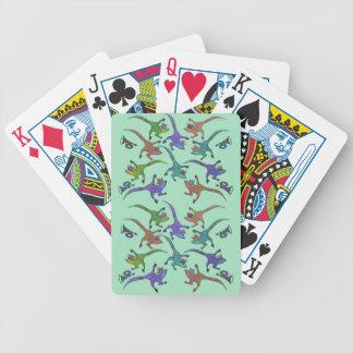 Eidechsen, die Spielkarten springen Bicycle Spielkarten