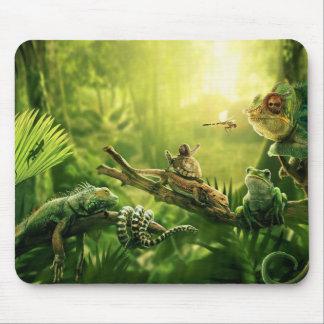 Eidechsen-Frosch-Dschungel-Reptil-Landschaft Mauspad