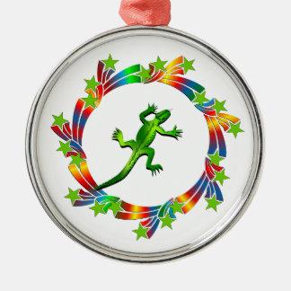 Eidechsen-Sterne Silbernes Ornament