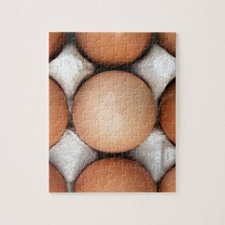 Eier in einem Kasten Puzzle