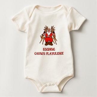 Eierpunsch verursacht Blähung Baby Strampler