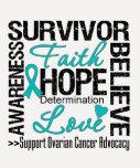 Eierstockkrebs-Überlebend-Motto Tshirts