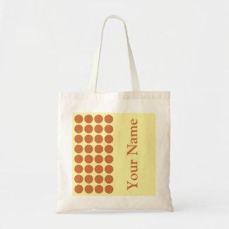 Eifer-neutrale Sahnepunkte mit Namenstext Einkaufstasche