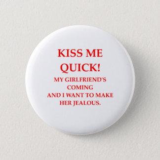 eifersüchtig runder button 5,7 cm
