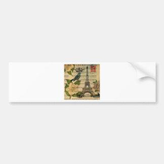 Eiffel Tower Vintage Paris Autoaufkleber