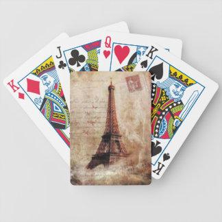 Eiffel Tower Vintage Paris Bicycle Spielkarten