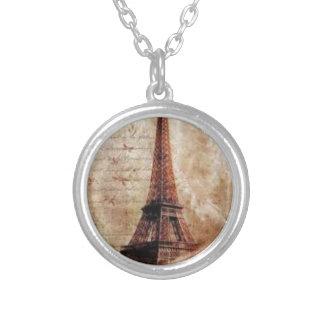 Eiffel Tower Vintage Paris Versilberte Kette