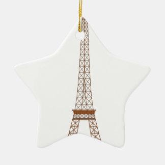 Eiffel-Turm-Cartoon Keramik Ornament