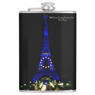 Eiffel-Turm, der europäische Gewerkschaft ehrt Flachmann