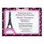 Eiffel-Turm-Geburtstags-Party Einladung