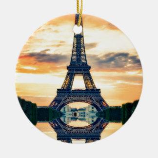 Eiffel-Turm-Paris-Abends-europäische Reise Keramik Ornament