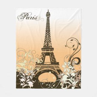 Eiffel-Turm-Paris-Fleece-Decke Fleecedecke