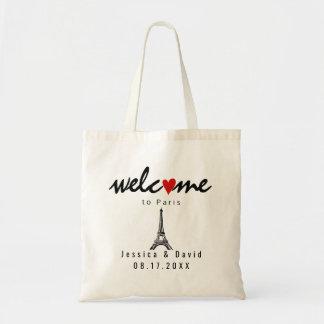 Eiffel-Turm-Paris-Hochzeit in Tragetasche