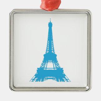 Eiffel-Turm-Paris-Sehenswürdigkeit Silbernes Ornament