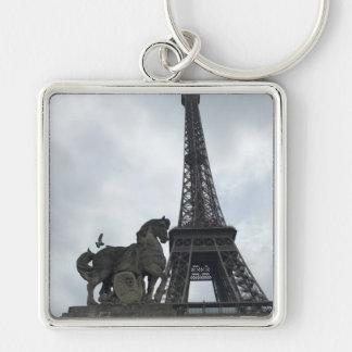 Eiffel-Turm-Silhouette-Schlüsselkette Schlüsselanhänger