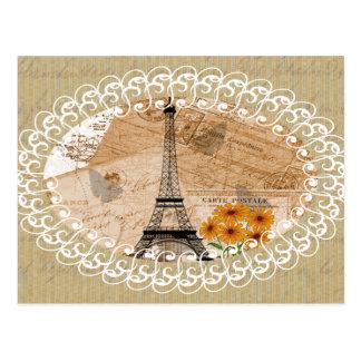 Eiffel-Turm-Vintage französische Postkarten u.