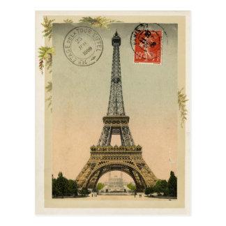 Eiffel-Turm-Vintage Wiedergabe Postkarte
