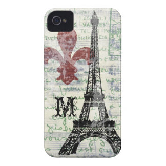 Eiffel-Turm Vintager französischer iPhone Fall iPhone 4 Case-Mate Hülle
