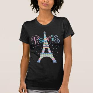 Eiffel-Turmschwarz-T - Shirt