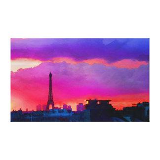 Eiffelturm am Sonnenuntergang Leinwanddruck