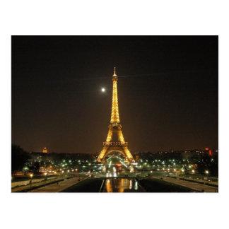 Eiffelturm an der Nachtpostkarte Postkarte