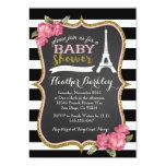 Eiffelturm-Babyparty-Einladung Paris französische 12,7 X 17,8 Cm Einladungskarte