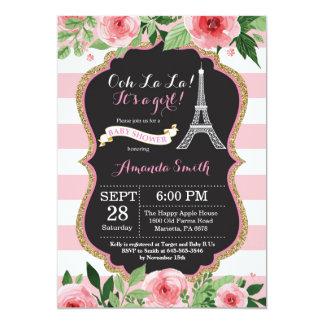 Eiffelturm-Babyparty-Einladung Paris französische Karte