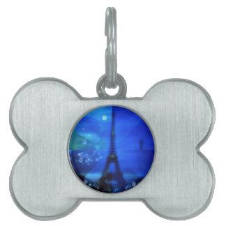 Eiffelturm-Blau-Illusion Tiermarke