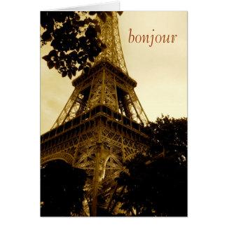 Eiffelturm, bonjour! Reise, freier Raum nach innen Karte