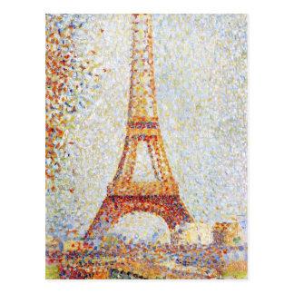 Eiffelturm durch Seurat schöne Kunst Postkarte