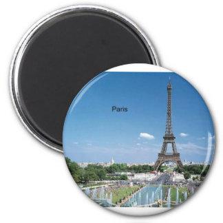 Eiffelturm Frankreichs Paris (durch St.K) Runder Magnet 5,7 Cm