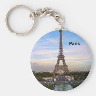Eiffelturm Frankreichs Paris (durch St.K) Standard Runder Schlüsselanhänger